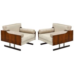 Pair of Armchairs in Jacarandá Rosewood, Brazilian Midcentury
