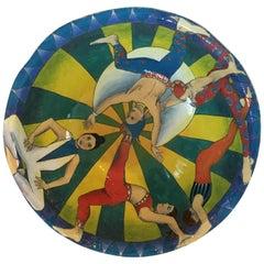 Whimsical Circus Motife Pottery Bowl