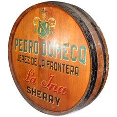 1980s Period Jerez Wine Casket Face