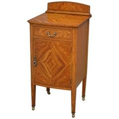 Edwardian Satinwood Bedside Cabinet