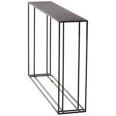 Small Loft Binate Contemporary Art Deco Minimal Steel Metal Console Table