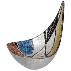 Midcentury German Ceramic Bowl by Ruscha