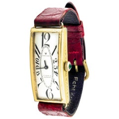 Stunning 1930s Art Deco Ladies Swiss Watch with Explosion Numerals