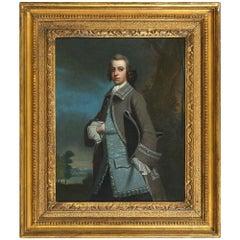 Follower of Arthur Devis, a Portrait of a Gentleman