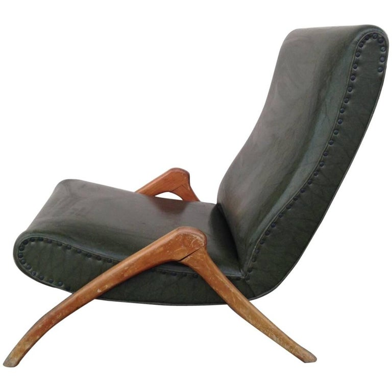 Vintage Stunning Armchair Chaise Longue in Style of Mollino Ulrich Gorgone, 1950
