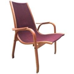 Vintage Swedish Lounge Chair Armchair in Style of Yngve Ekström Design, 1960