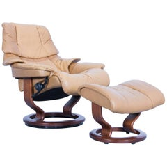 Stressless Designer Chair Set Leather Ocre Brown Relax Function Couch Modern