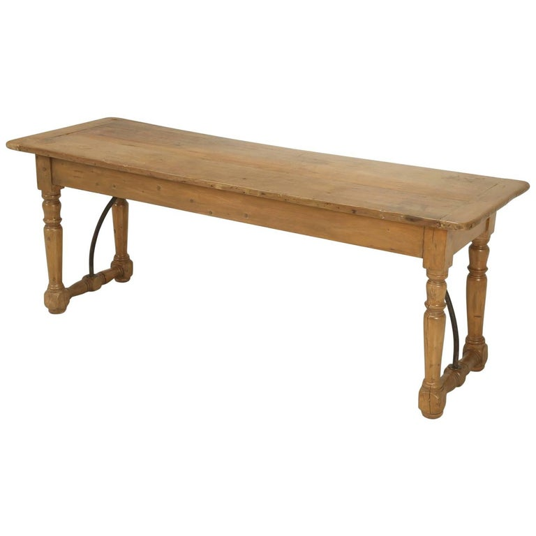 Antique Kitchen or Console Table For Sale