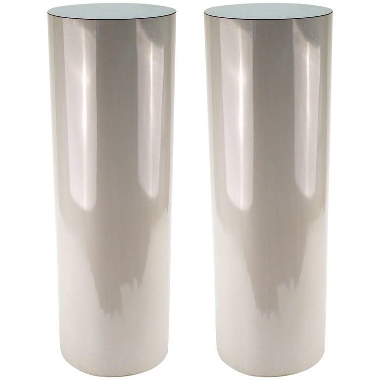 Pair of Gray Pedestals