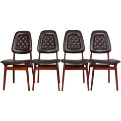 Midcentury Norwegian Dining Chairs by Brødrene Sørheim