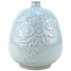 Korean Celadon-Glazed Pottery Vase