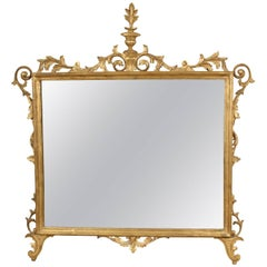 Large-Scale Carved and Giltwood Mirror