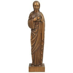 Wood Carving by the French Sculptor R. Vergnes, circa 1949
