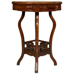 Chinese Antique Side Table, Rosewood and Marble, British Empire Exhibition 1924