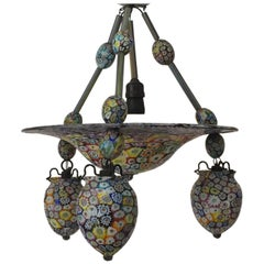 Fratelli Toso, Beautiful and Rare Murrine Chandelier