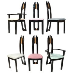 Set of Six Italian Dining Chairs by Pietro Costantini for Ello