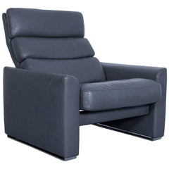 Erpo Soho Designer Armchair Leather Grey Anthracite One Seat Modern Function