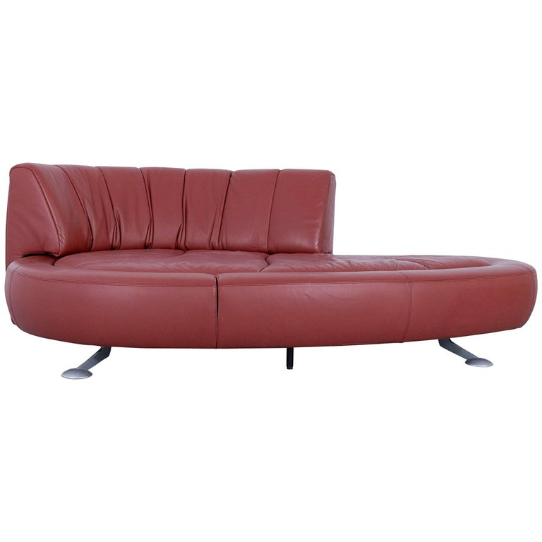 De Sede Ds 164 Designer Sofa Leather Terracotta Red Two Seat Function Couch For Sale At 1stdibs