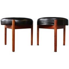 Pair of Danish Teak Stools by Hugo Frandsen for Spottrup