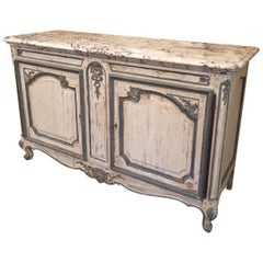Painted French Buffet with Marble Top