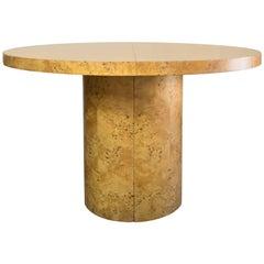 Intrex Habitat Round Pedestal Burl Wood Table