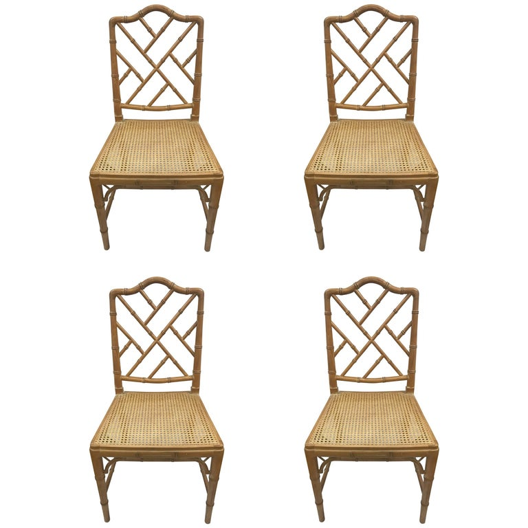 Seating Mini Gravita Armchair In Oriental Garden Fabric: Faux Bamboo Chinese Chippendale Style Chairs With Cane