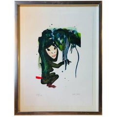 Lithograph in Colors of Female Being by Kathrine Ærtebjerg, Denmark, 2005