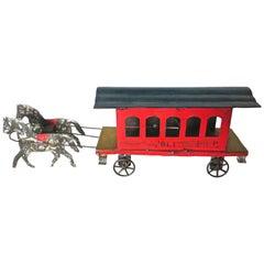 American Tin Toy Trolley, circa 1880