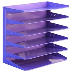 Midcentury Office Mail Organizer Refinished in Lilac