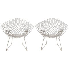 Pair of Bertoia Diamond Chairs