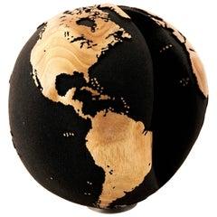 Black Volcanic Sand Globe