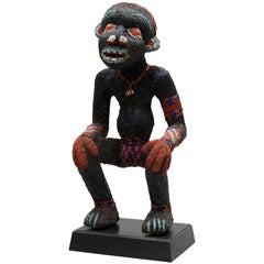Beaded Ceremonial Dynamic Figure, Cameroon Grasslands