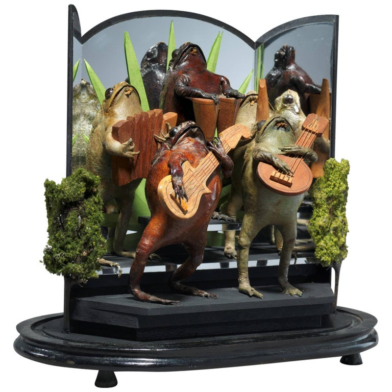Diorama with Orchestra of Taxidermy Toads