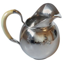 F. Hingelberg Sterling Silver Water Pitcher by Svend Weihrauch with Bone Handle