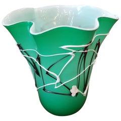 Green Modern Blown Glass Vase