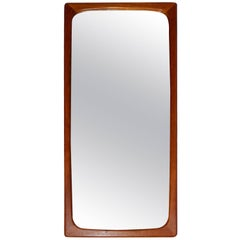 Swedish Midcentury Sculptured Teak Mirror
