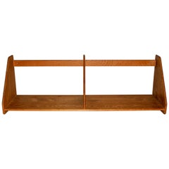 Hans J Wenger Midcentury Oak Wall Shelf for Ry Møbler
