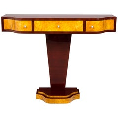 Completely restored french palisander Art Deco console table, 1920-1929