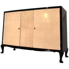 French Art Deco Parchment Sideboard, France, 1950