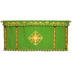 Decorative Tapestry on Brass Rod