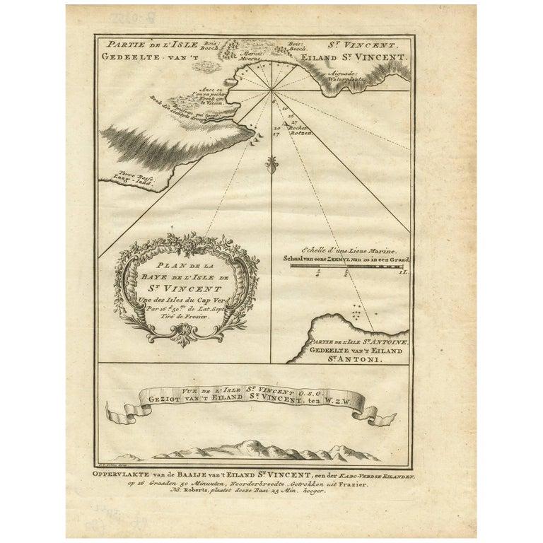 Antique Map of the Cape Verde Islands by J. Van Der Schley, circa ...