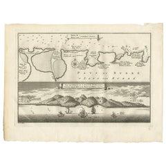 Antique Print of the Bay of Sierra Leone by J. Van Der Schley, 1758