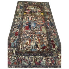 19th Century, Iranian Carpet Made from Kurk Wool