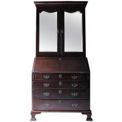 Fine Quality Irish George II Mahogany Bureau Bookcase, circa 1740-1750