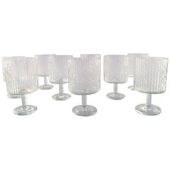 Riihimaki Riihimaen, Finland, Findari Nine Glasses by Nanny Still, 1960s