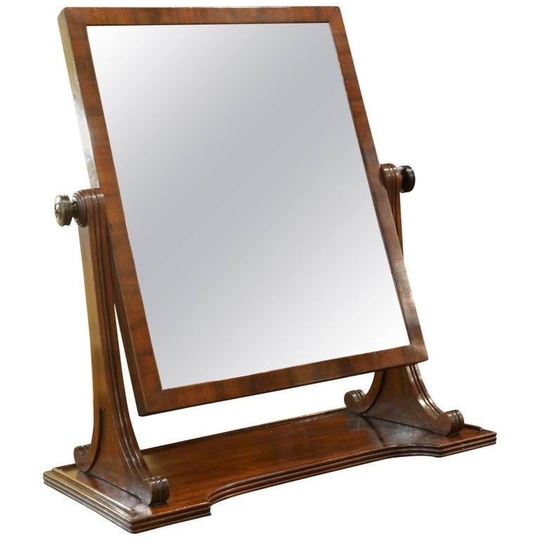 Early 19th Century Mahogany Swing Mirror
