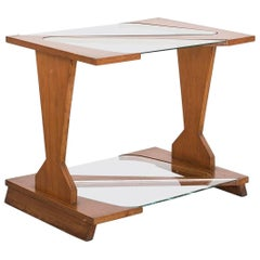 "1950s ""Z"" Side Table in Plywood and Glass by José Zanine Caldas, Brazil Modern"