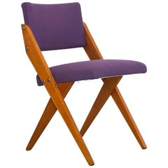 "1950s ""Tesoura"" Chair in Pau Marfim Wood by José Zanine Caldas, Brazil Modern"