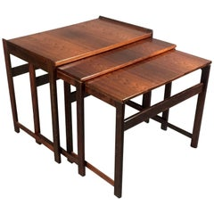 Set of Danish Rosewood Nesting Tables, circa 1970