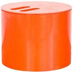 Jorge Zalszupin Orange Ice Bucket for Eva, Brazil, 1970s